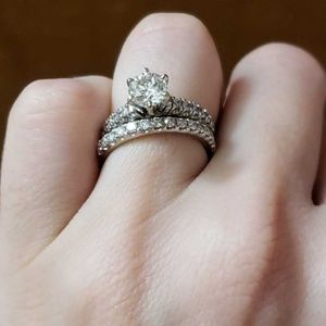 14k White Gold Diamond wedding rings